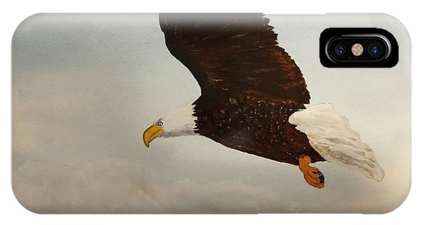IPhone Case featuring the painting American Eagle by Donald Paczynski