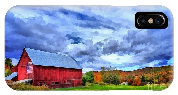 New England Barn iPhone Case - American Farmer by Edward Fielding