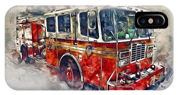 American Fire Truck IPhone Case