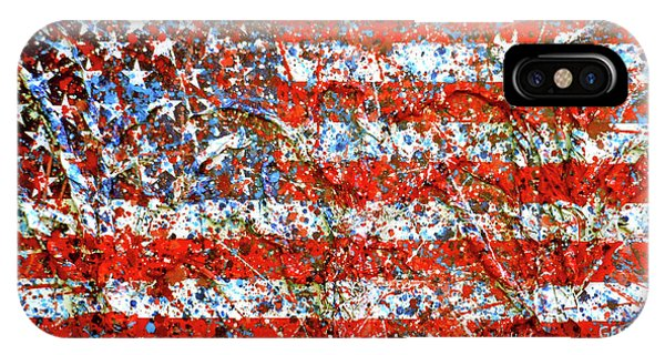 American Flag Abstract 2 With Trees  IPhone Case