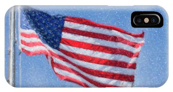 American Flag Artwork IPhone Case