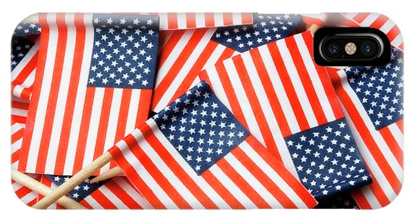 American Flag Background IPhone Case