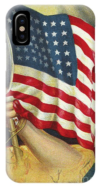 American Flag Emerging From America IPhone Case