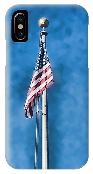 American Flag 'painted' IPhone Case