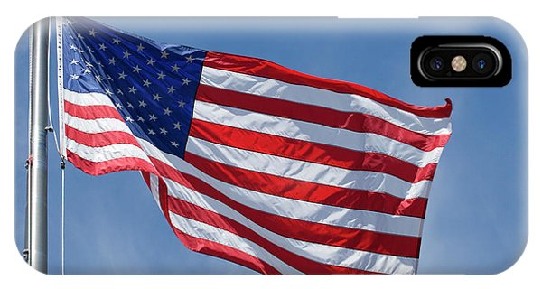 American Flag On Pole IPhone Case