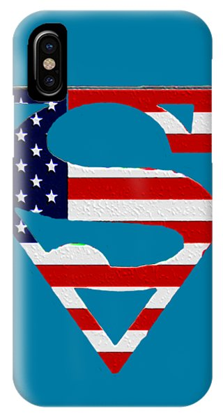 iPhone Case - American Flag Superman Shield by Bill Cannon