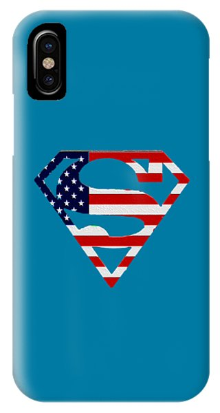 American Flag Superman Shield IPhone Case