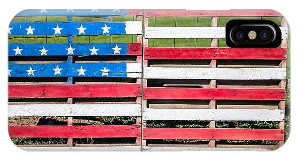 American Flag iPhone Case - American Folk Art by Todd Klassy