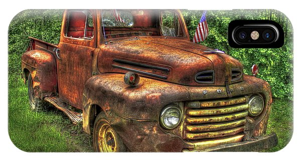 American Ford 1950 F-1 Ford Pickup Truck Art IPhone Case