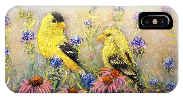 American Goldfinch Pair IPhone Case