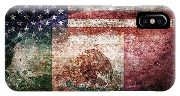 Stars And Stripes iPhone Case - American Mexican Tattered Flag  by Az Jackson