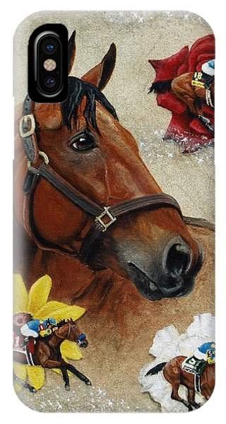 Pharaoh iPhone Case - American Pharoah 12th Triple Crown Champion by Pat DeLong