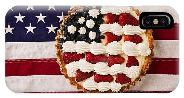 Patriotic iPhone Case - American Pie On American Flag  by Garry Gay