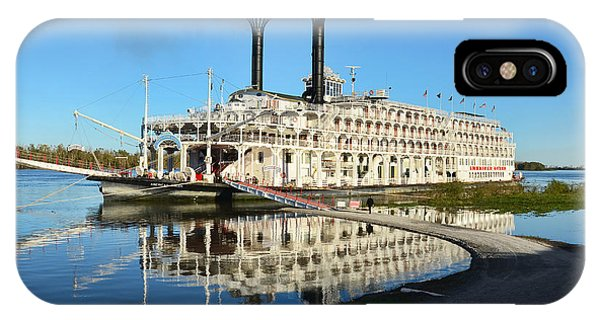 American Queen Steamboat Reflections On The Mississippi River IPhone Case