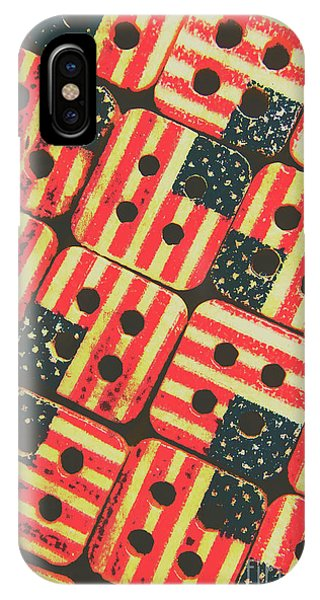 Past iPhone Case - American Quilting Background by Jorgo Photography - Wall Art Gallery