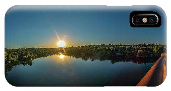 American River At Sunrise - Panorama IPhone Case