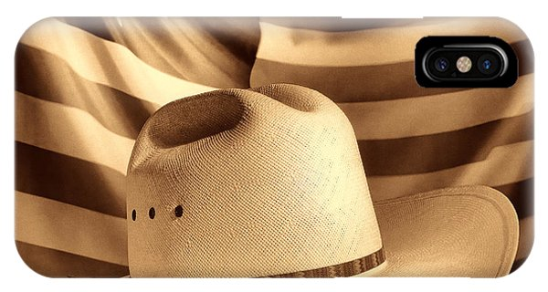 American Rodeo Cowboy Hat IPhone Case