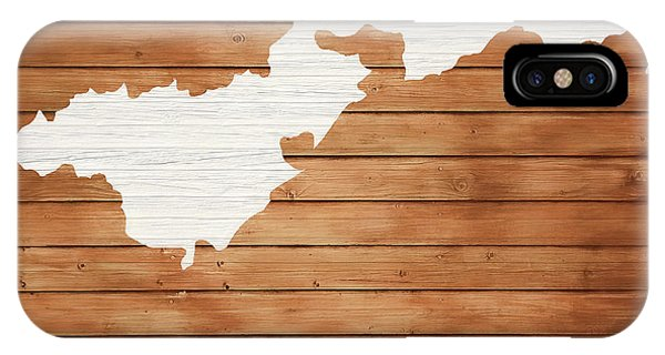Traveler iPhone Case - American Samoa Rustic Map On Wood by Dan Sproul