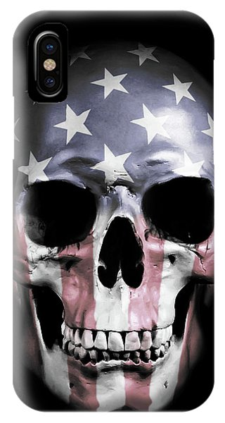 iPhone Case - American Skull by Nicklas Gustafsson