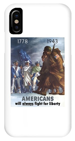 Political iPhone Case - Americans Will Always Fight For Liberty by War Is Hell Store