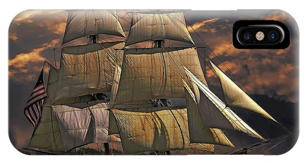 iPhone Case - America's Ship by Harry Warrick