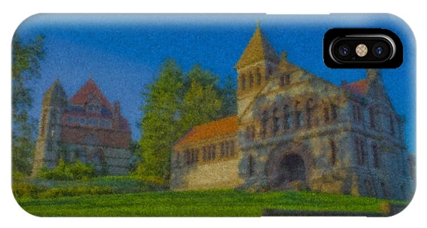 Ames Hall And Ames Free Library IPhone Case