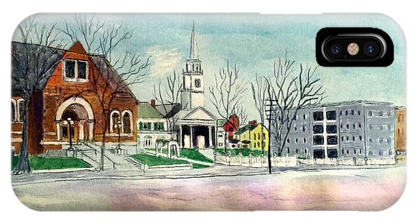 Amesbury Public Library Circa 1920 IPhone Case