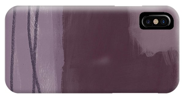 Simple iPhone Case - Amethyst 3- Abstract Art By Linda Woods by Linda Woods