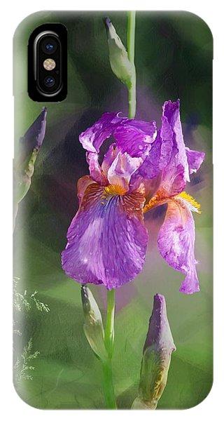 Amethyst Iris 2 IPhone Case