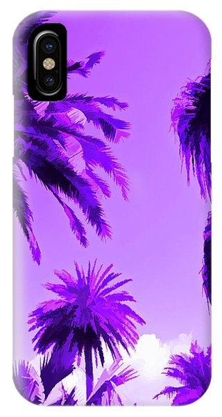 Amethyst Palms In The Sky IPhone Case