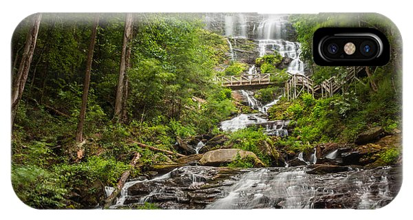 IPhone Case featuring the photograph Amicalola Falls by Michael Sussman