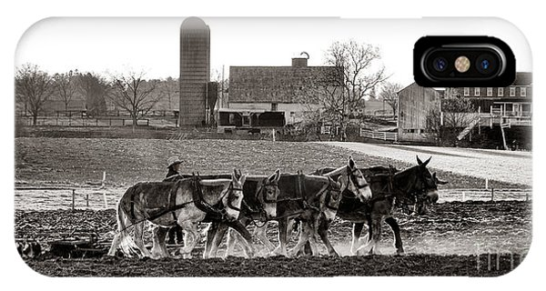 Amish iPhone Case - Amish Agriculture  by Olivier Le Queinec