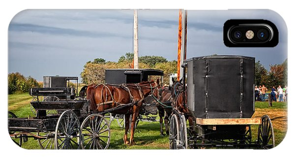 Amish At The Auction IPhone Case