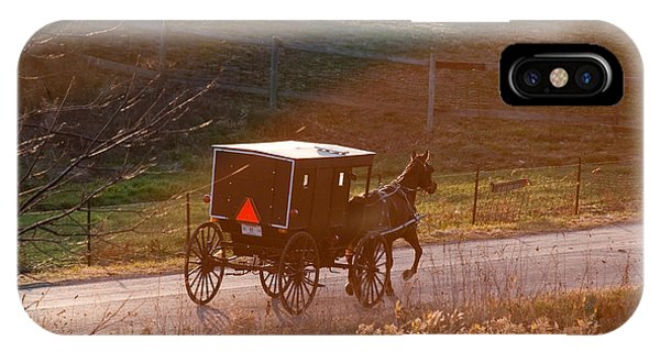 Amish Buggy Afternoon Sun IPhone Case