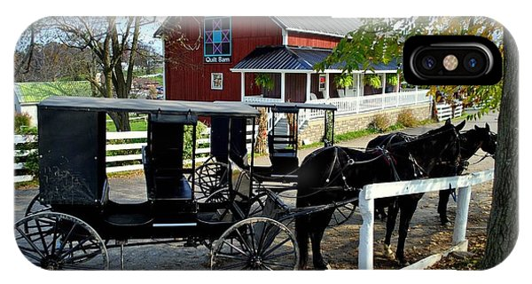 Amish Country iPhone Case - Amish Country Horse And Buggy by Frozen in Time Fine Art Photography