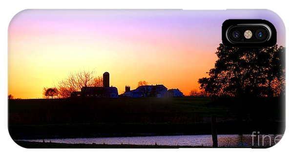 Amish iPhone Case - Amish Farm Sunset by Olivier Le Queinec