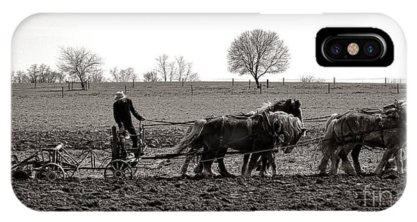 Amish iPhone Case - Amish Farming by Olivier Le Queinec