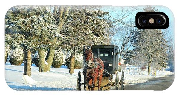 Amish Winter IPhone Case
