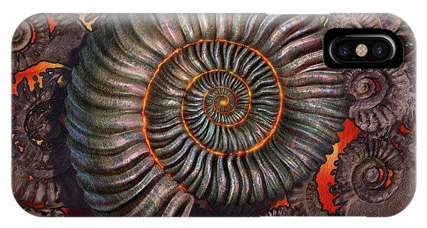 Fossil iPhone Case - Ammonite 2 by Jerry LoFaro