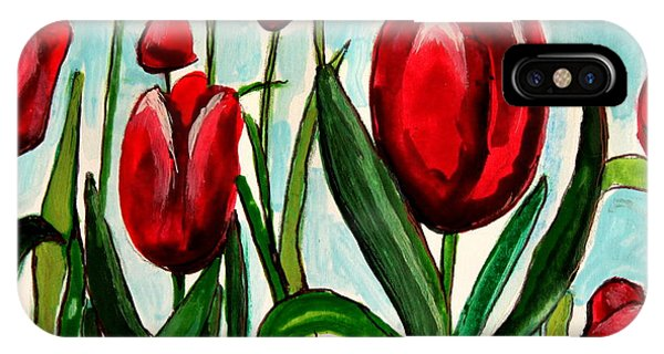 Among The Tulips IPhone Case