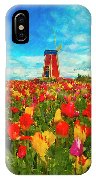 Amongst The Tulips IPhone Case