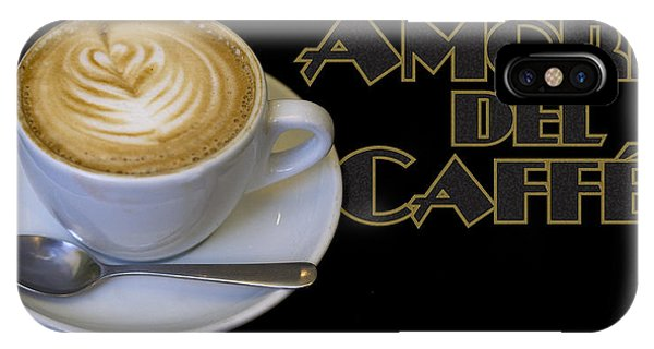 Amore Del Caffe Poster IPhone Case