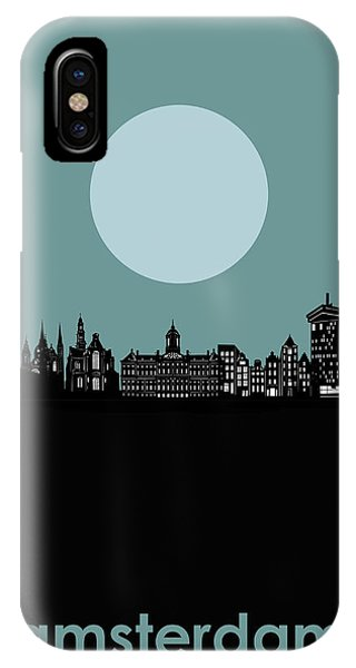 Holland iPhone Case - Amsredam Skyline Minimalism by Bekim M