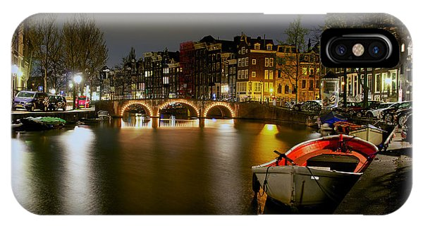 Amsterdam At Night IPhone Case