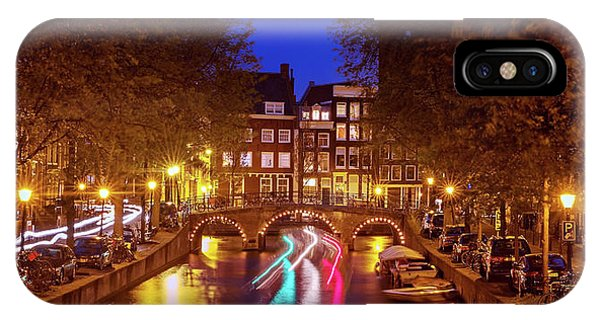IPhone Case featuring the photograph Amsterdam By Night by Barry O Carroll