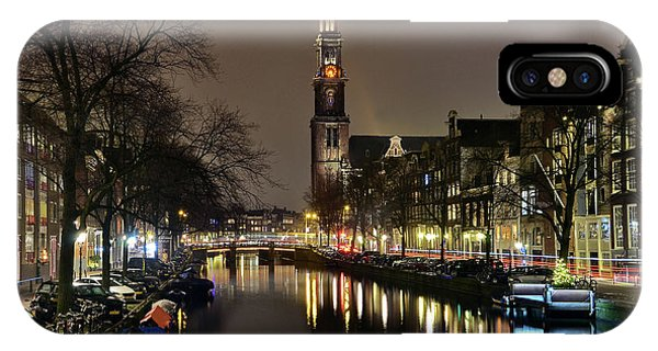 Amsterdam By Night - Prinsengracht IPhone Case