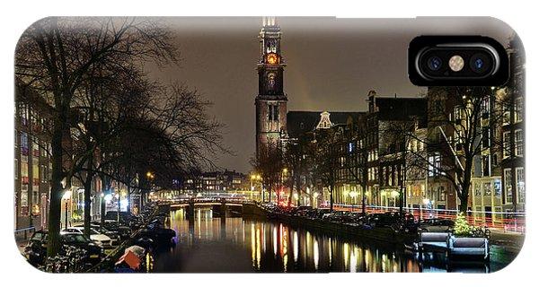 Amsterdam By Night - Prinsengracht IPhone Case