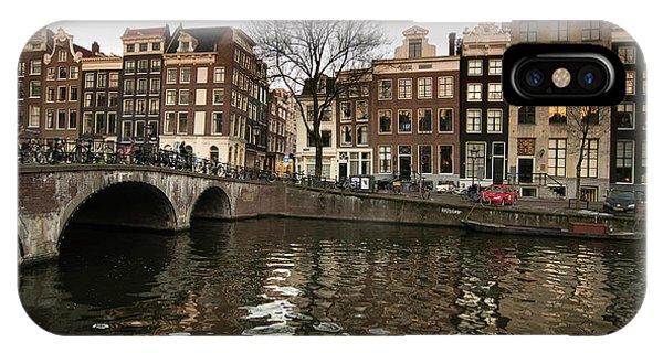 Amsterdam Canal Bridge IPhone Case