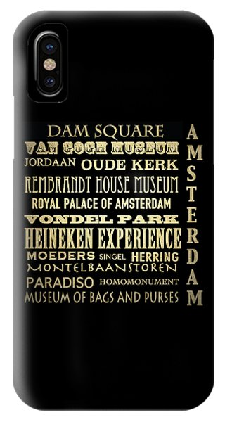 Van Gogh Museum iPhone Case - Amsterdam Famous Landmarks by Patricia Lintner
