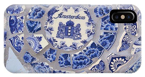 iPhone Case - Amsterdam In Blue by April Bielefeldt